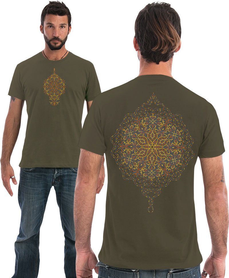 mandala men tshirt sacred geometry clothing