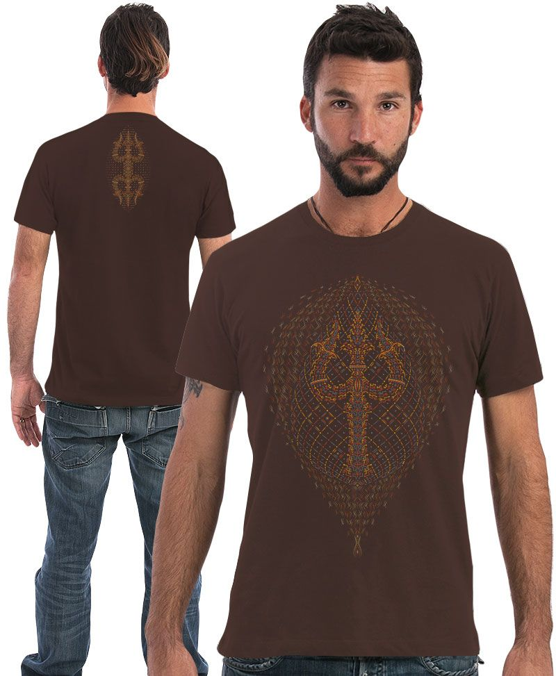 psychedelic shirt men tshirt brown