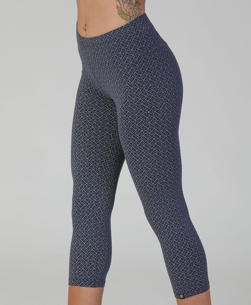 Geometric print cotton yoga leggings for women