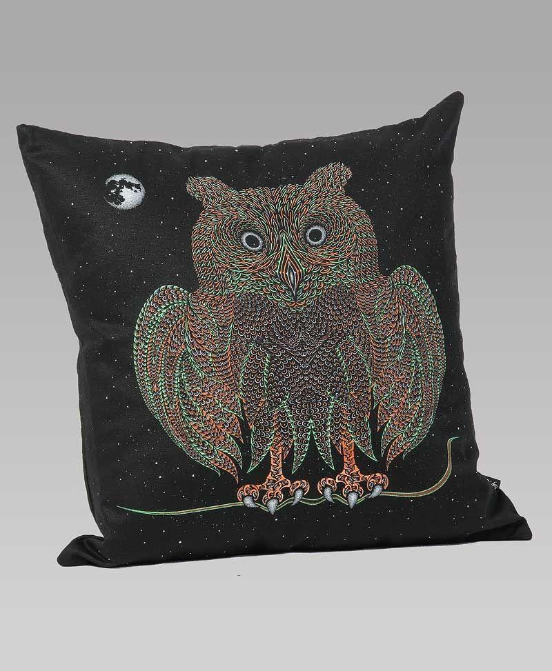 Psytrance Clothing Fashion Owl Cushion Cover