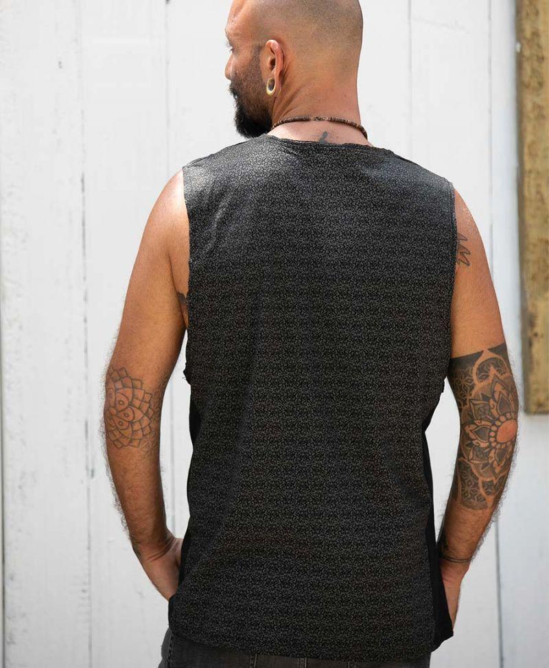 Rudraksha Full Print Men Tank Top Alternative Streetwear