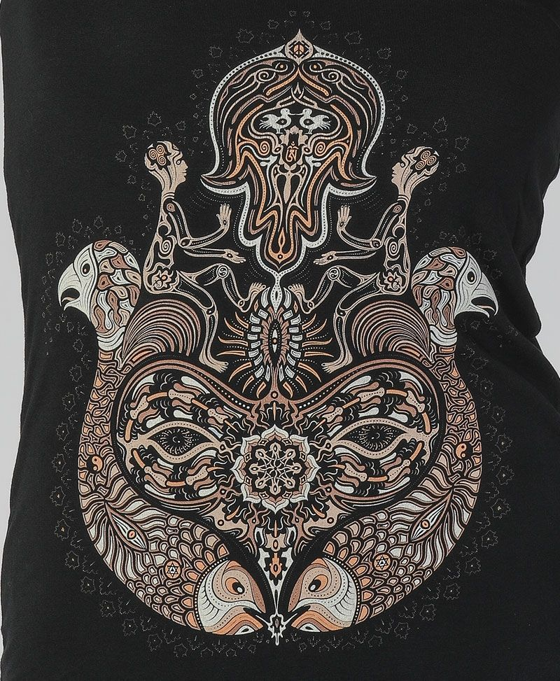 sacred geometry yoga clothing women hamsa tank top