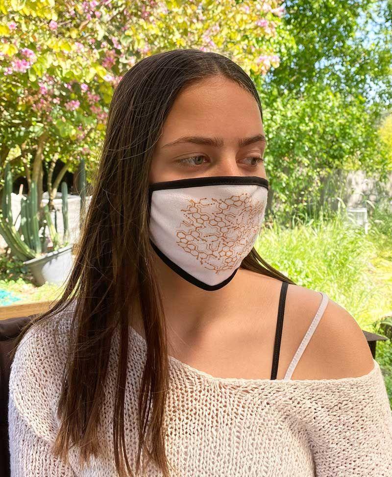 lsd molecule face mask