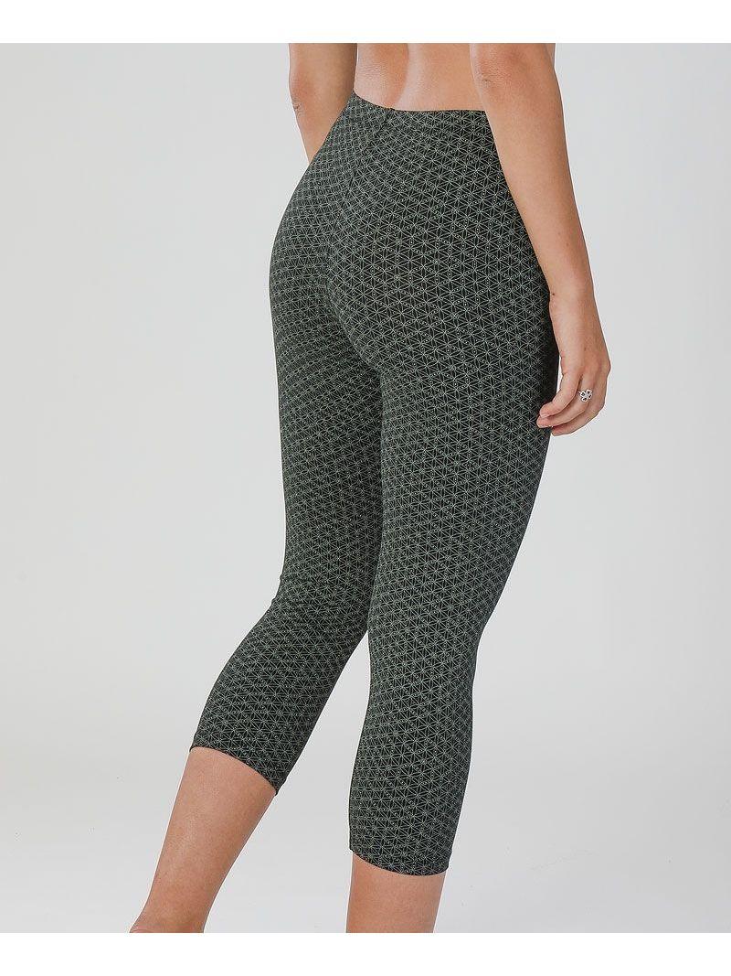 Sacred geometry seed of life printed yoga leggings for women