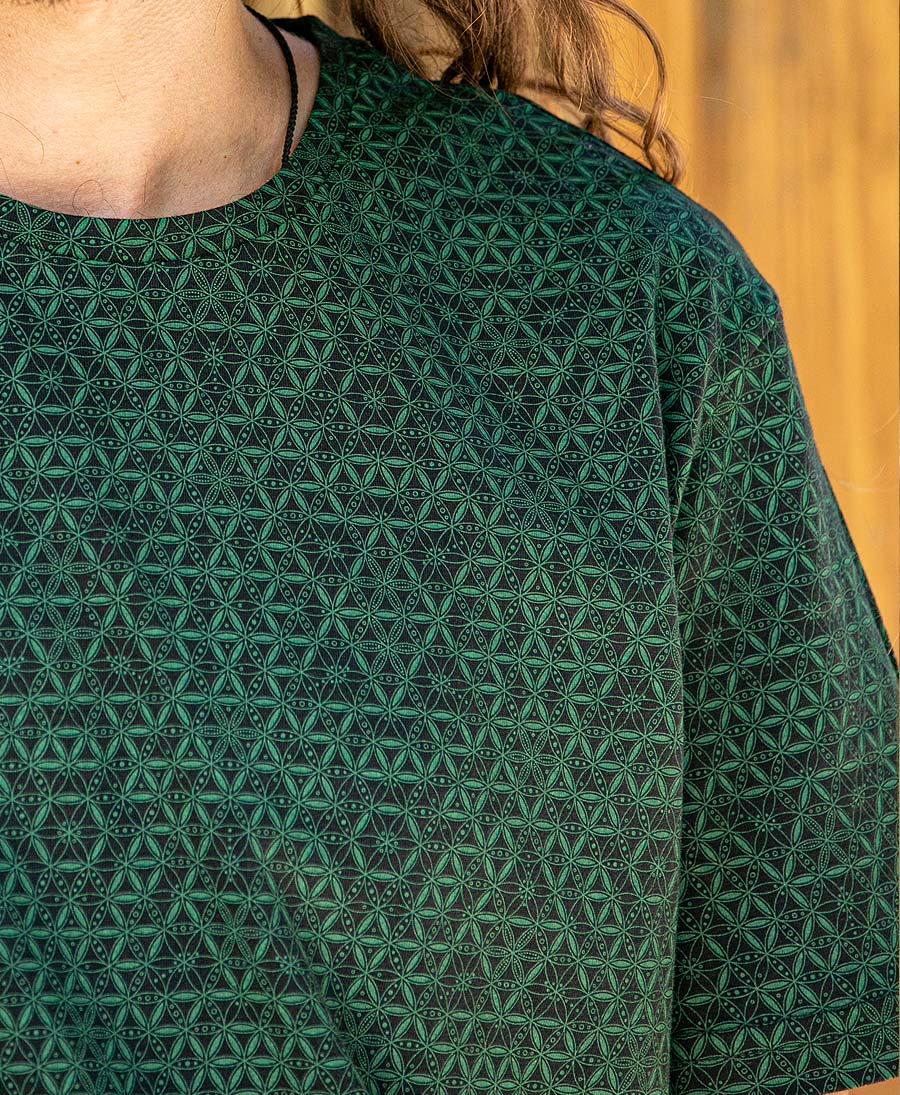 Flower Of Life T-shirt ➟ Green