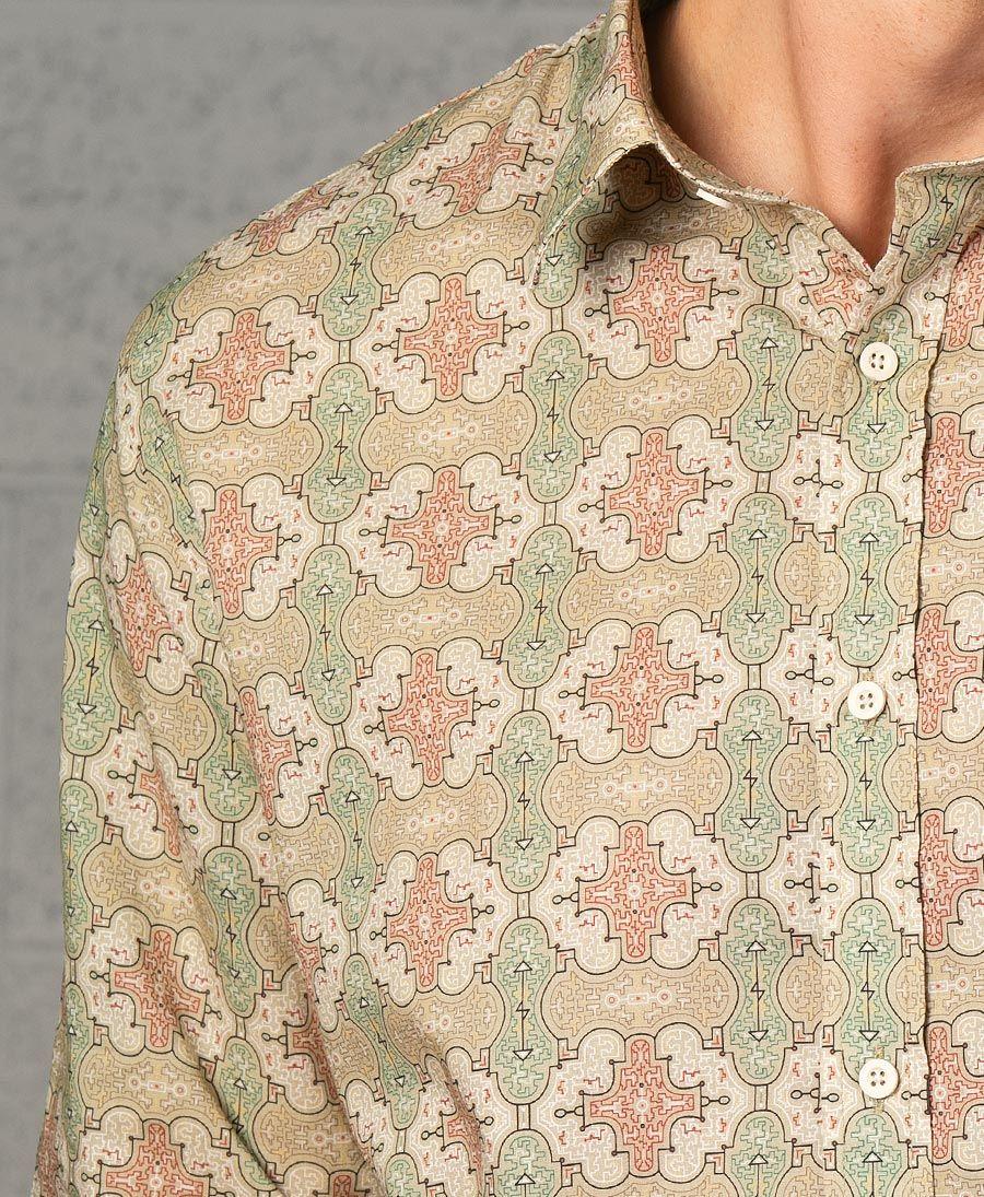 Shipibo Kené Button Shirt- Long Sleeve