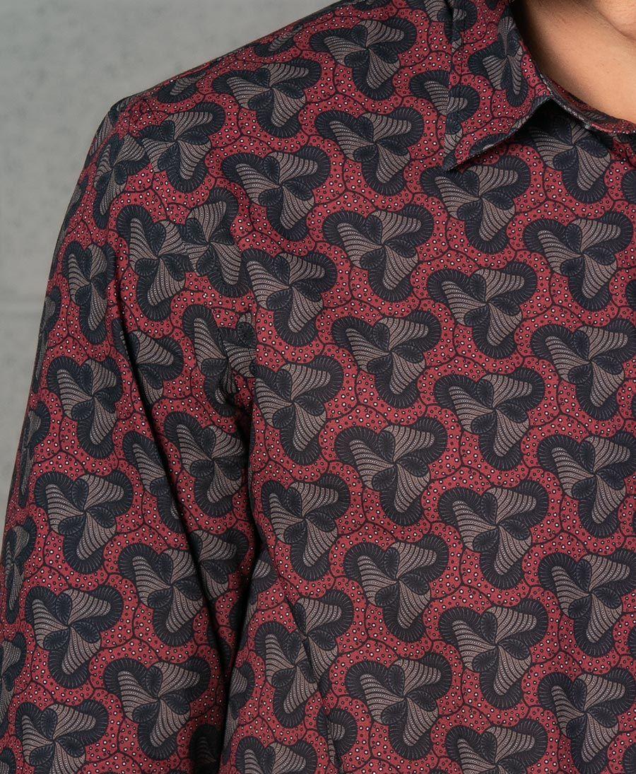 Fungi Button Shirt- Long Sleeve