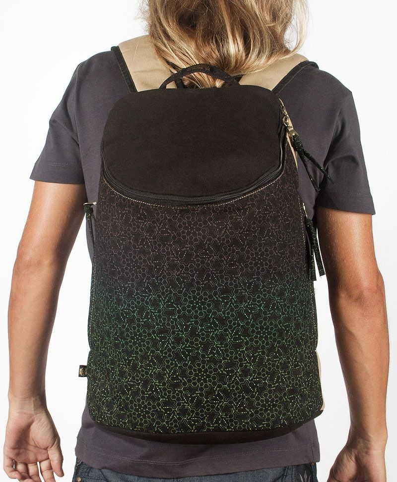 LSD Molecule Wide Top Backpack