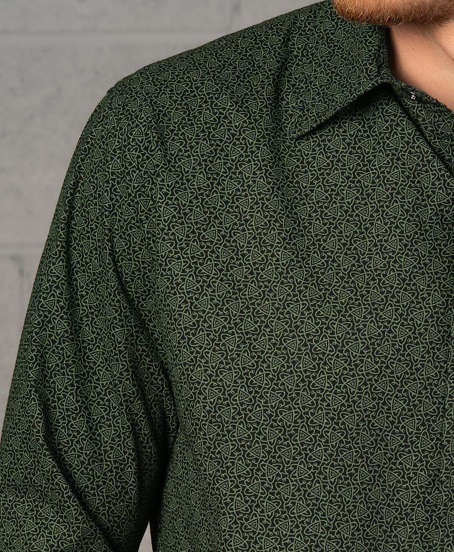 Atomic Long Button Shirt ➟ Black