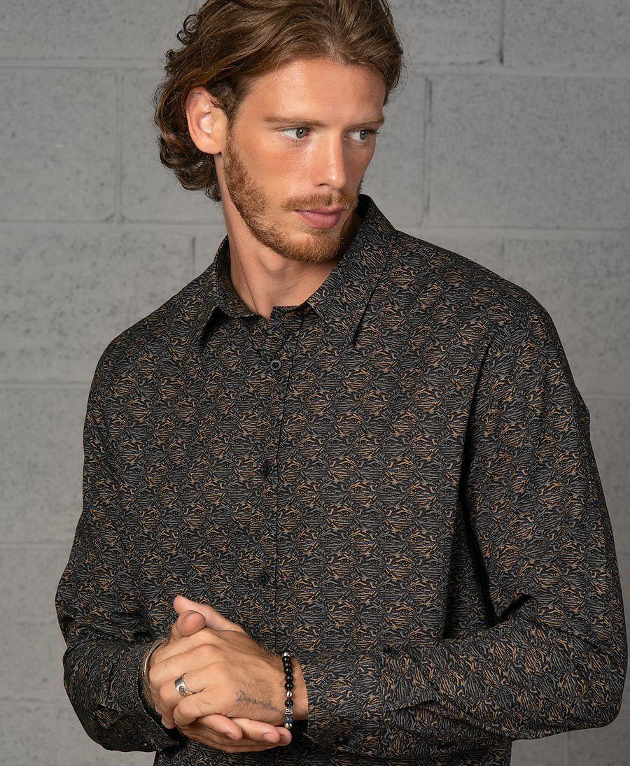 Peach Button Shirt- Long Sleeve