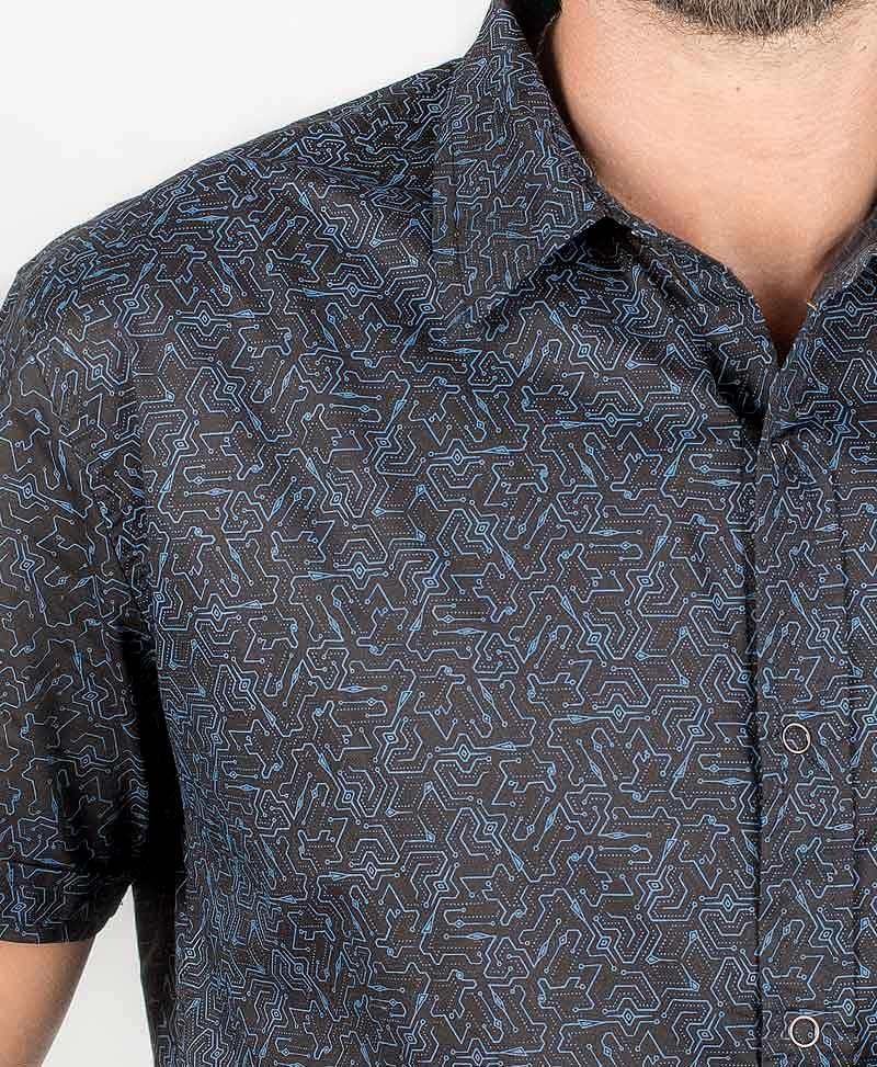 Plonter Button Shirt ➟ Black