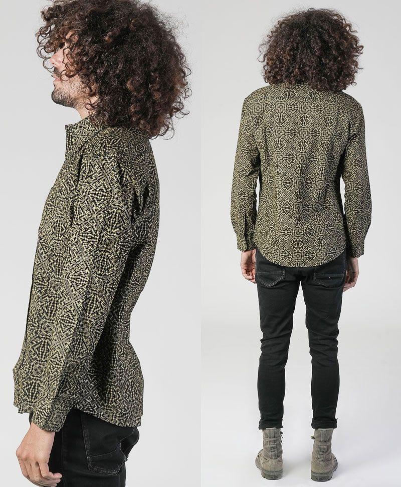 Hexit Long Button Shirt ➟ Black