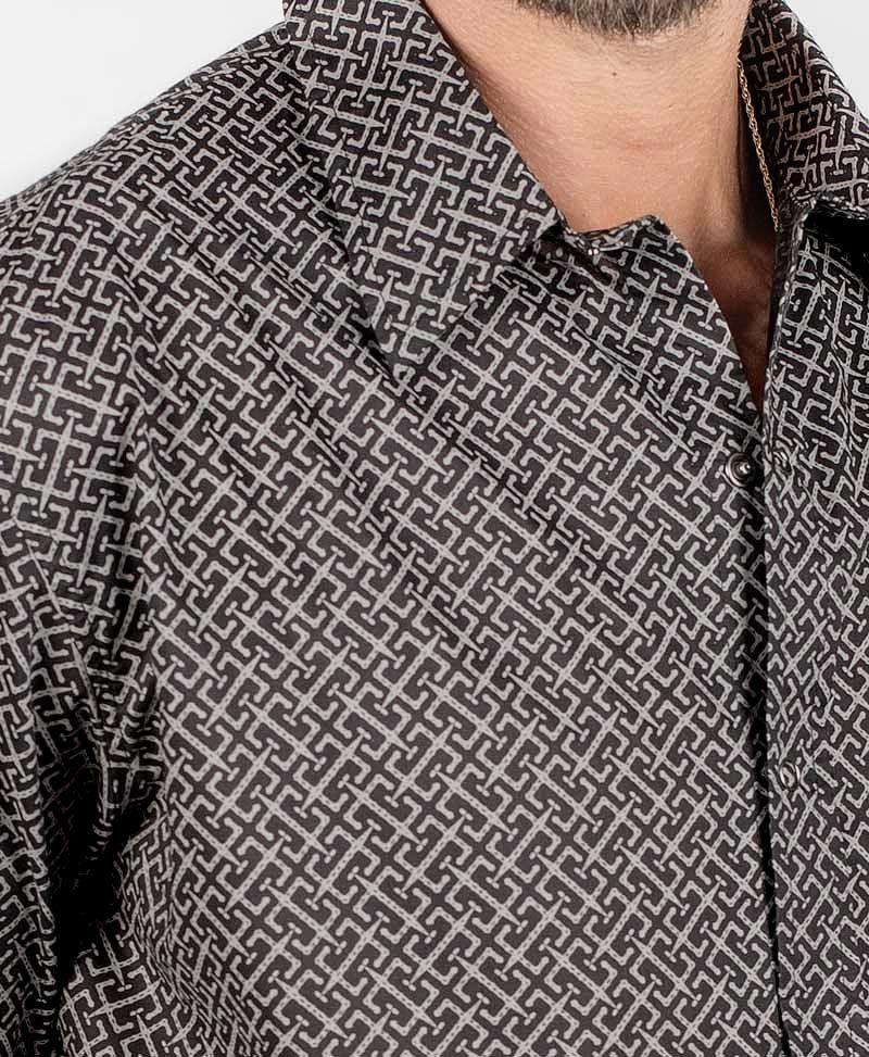 InOut Long Button Shirt ➟ Black
