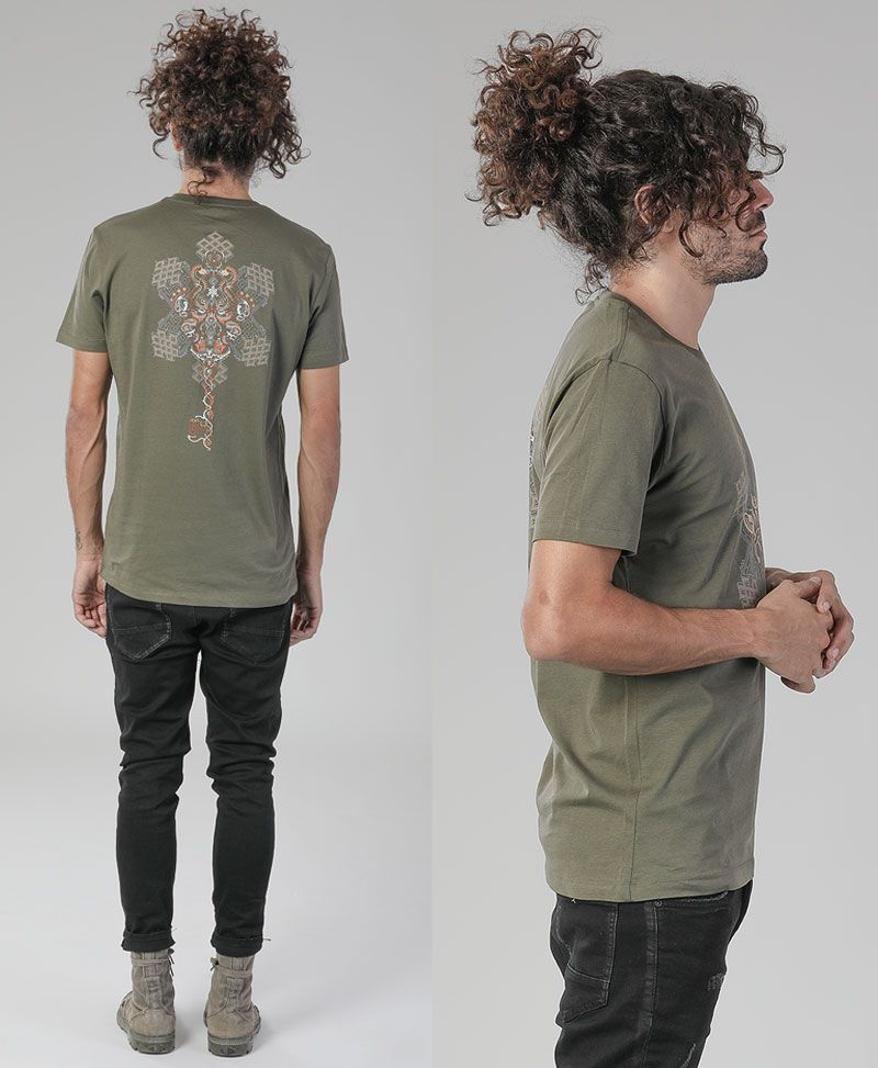 Om On Key T-shirt ➟ Olive