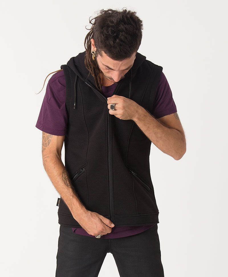 Anahata Hooded Vest ➟ Black