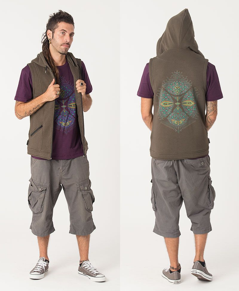 Sikuli Hooded Vest ➟ Olive