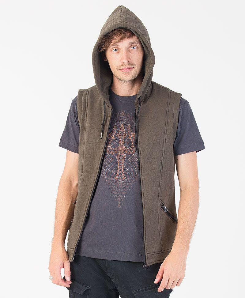 Trishula Hooded Vest ➟ Olive