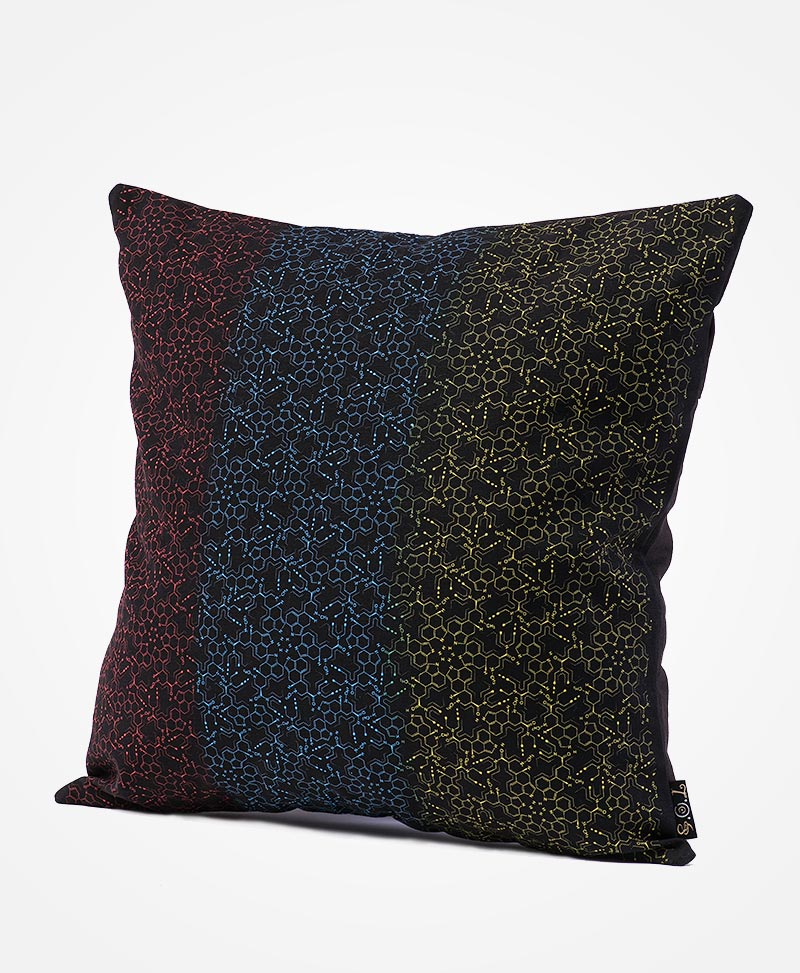 LSD Molecule Cushion Cover