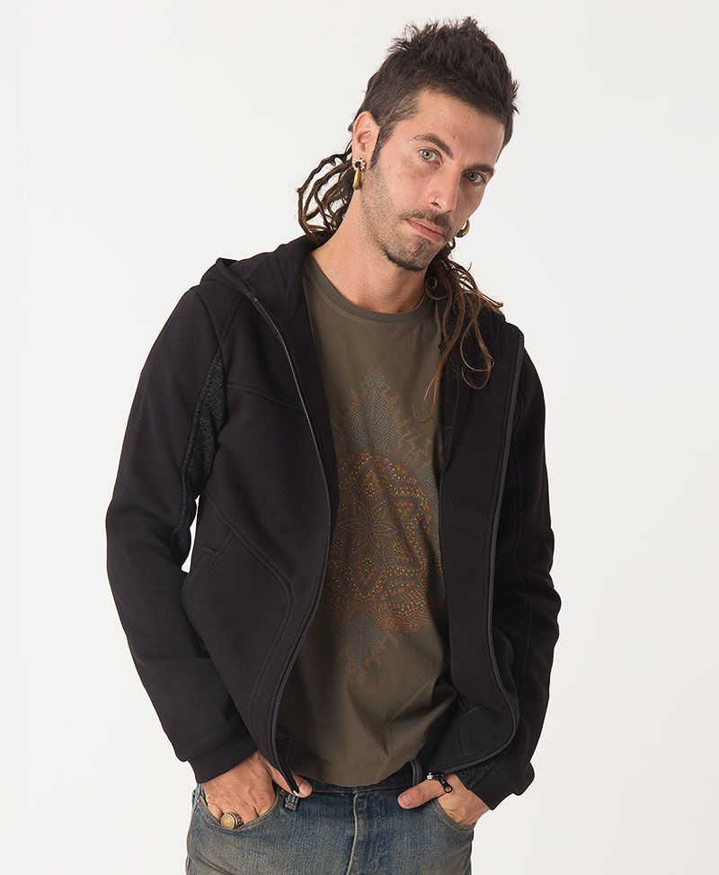Anahata Hoodie Jacket ➟ Black