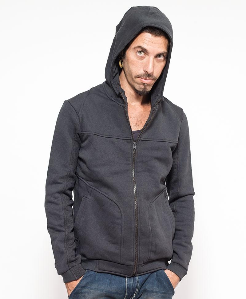 Trishula Hoodie Jacket ➟ Grey