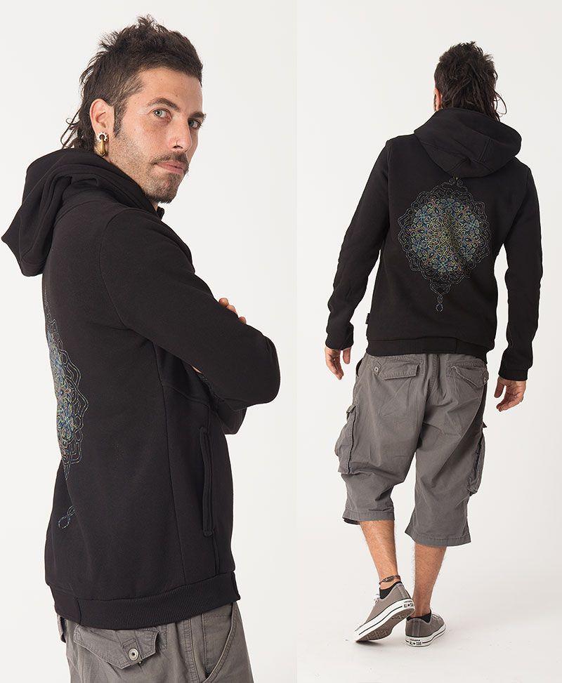 Peyote Hoodie Jacket ➟ Black