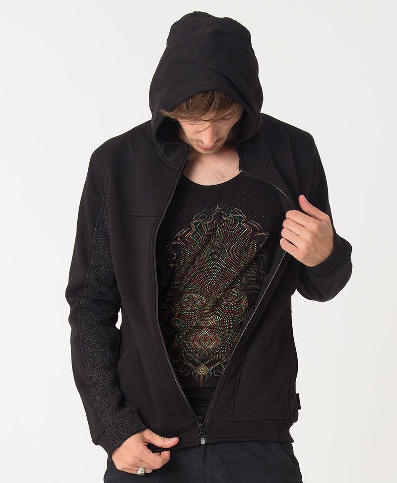 TriMurti Hoodie Jacket ➟ Black
