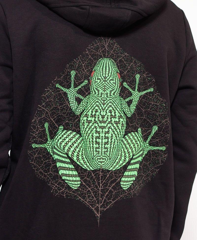 Sapo Kambô Hoodie Jacket ➟ Black