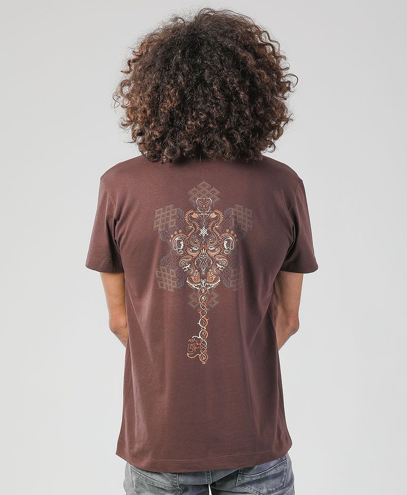 Om On Key T-shirt ➟ Brown