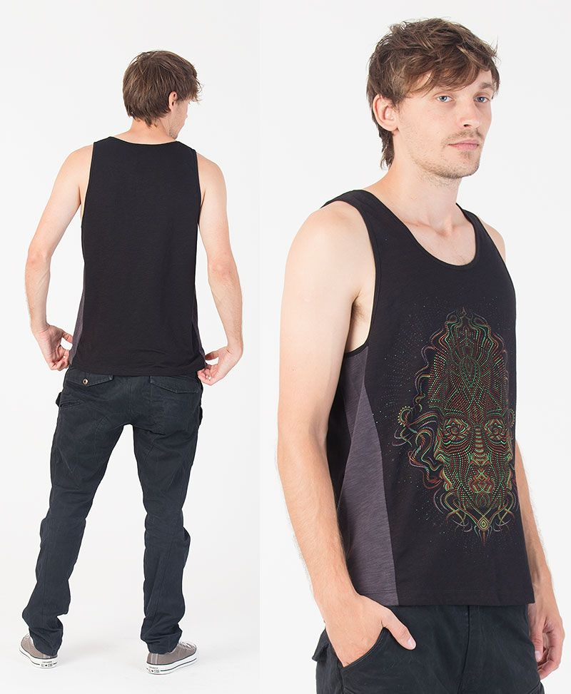 TriMurti Tank Top ➟ Grey + Black