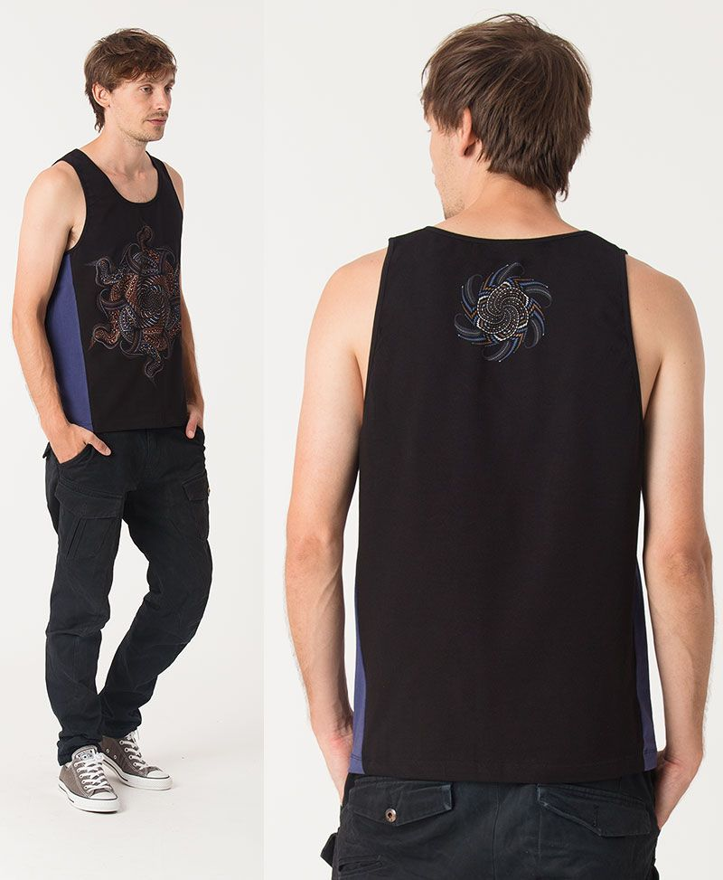 Vortex Tank Top ➟ Blue + Black