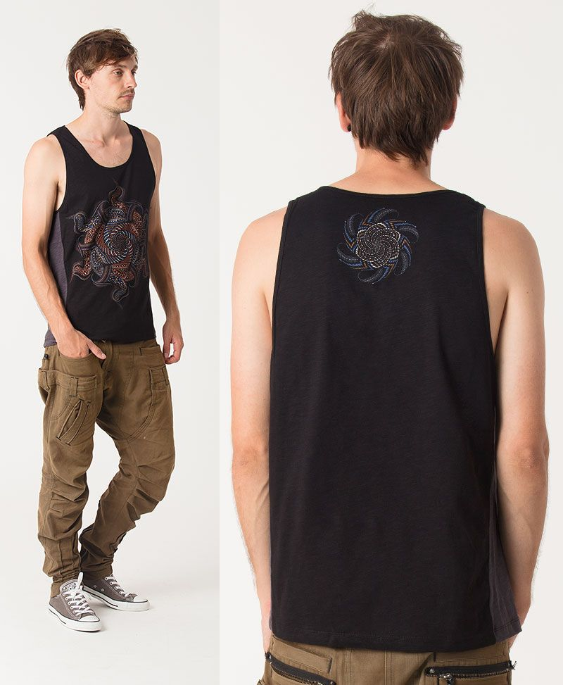 Vortex Tank Top ➟ Grey + Black