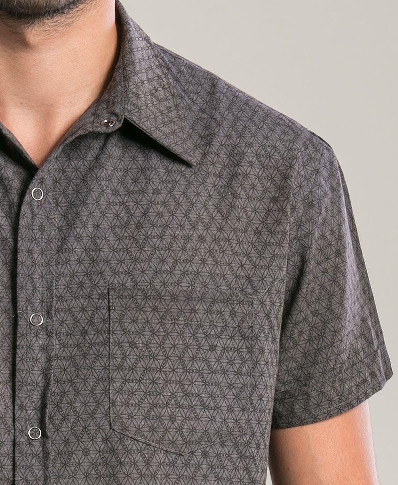 Seeds Button Shirt ➟ Grey