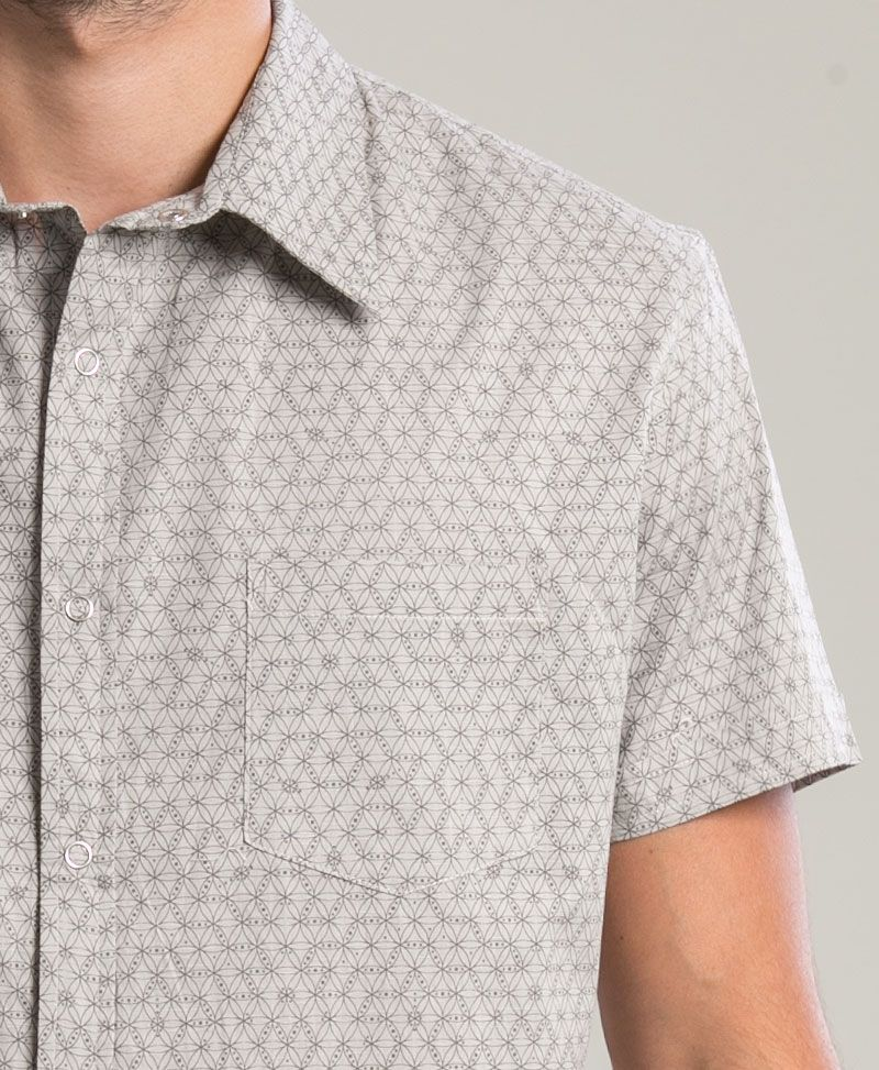 Seeds Button Shirt ➟ Light Grey
