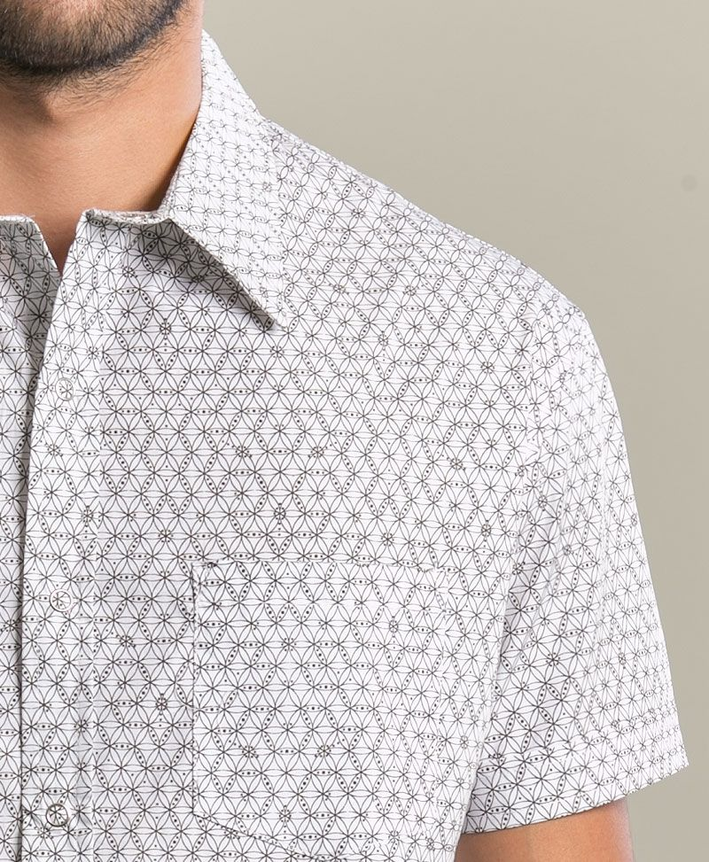 Seeds Button Shirt ➟ White