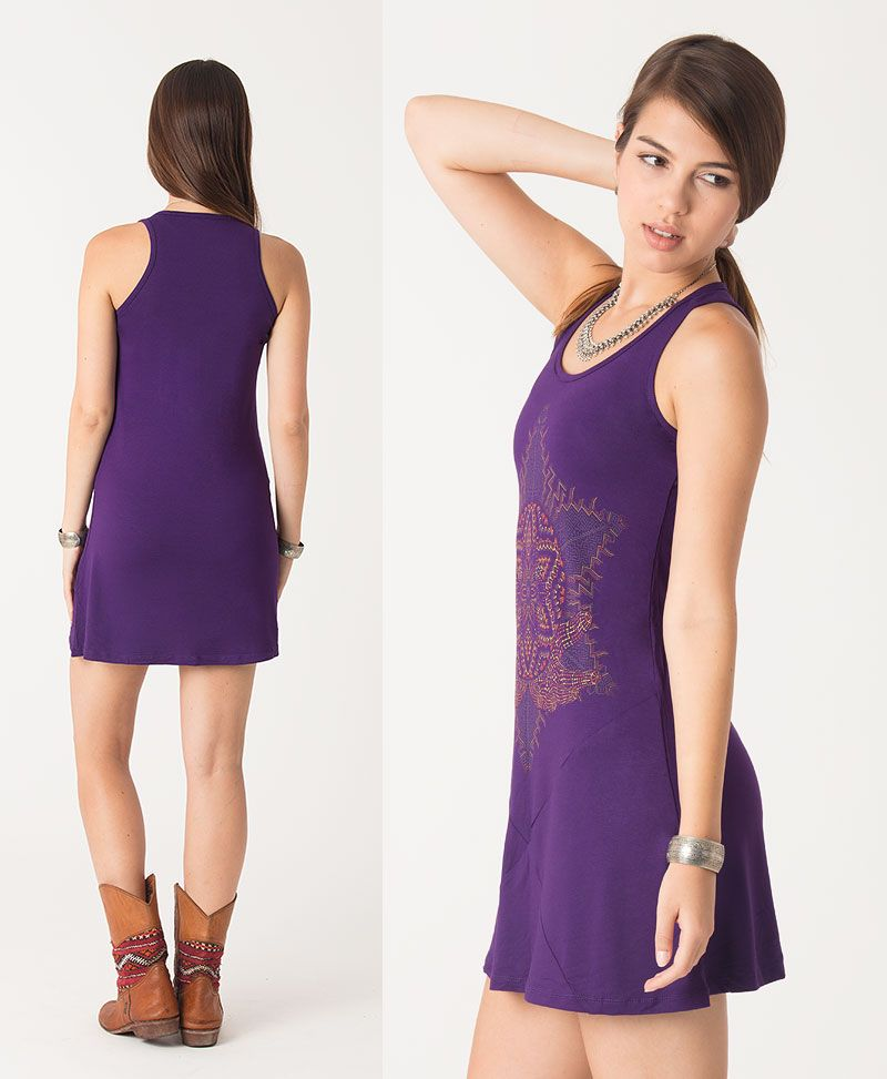 Anahata Tunic Dress ➟ Purple / Blue / Red