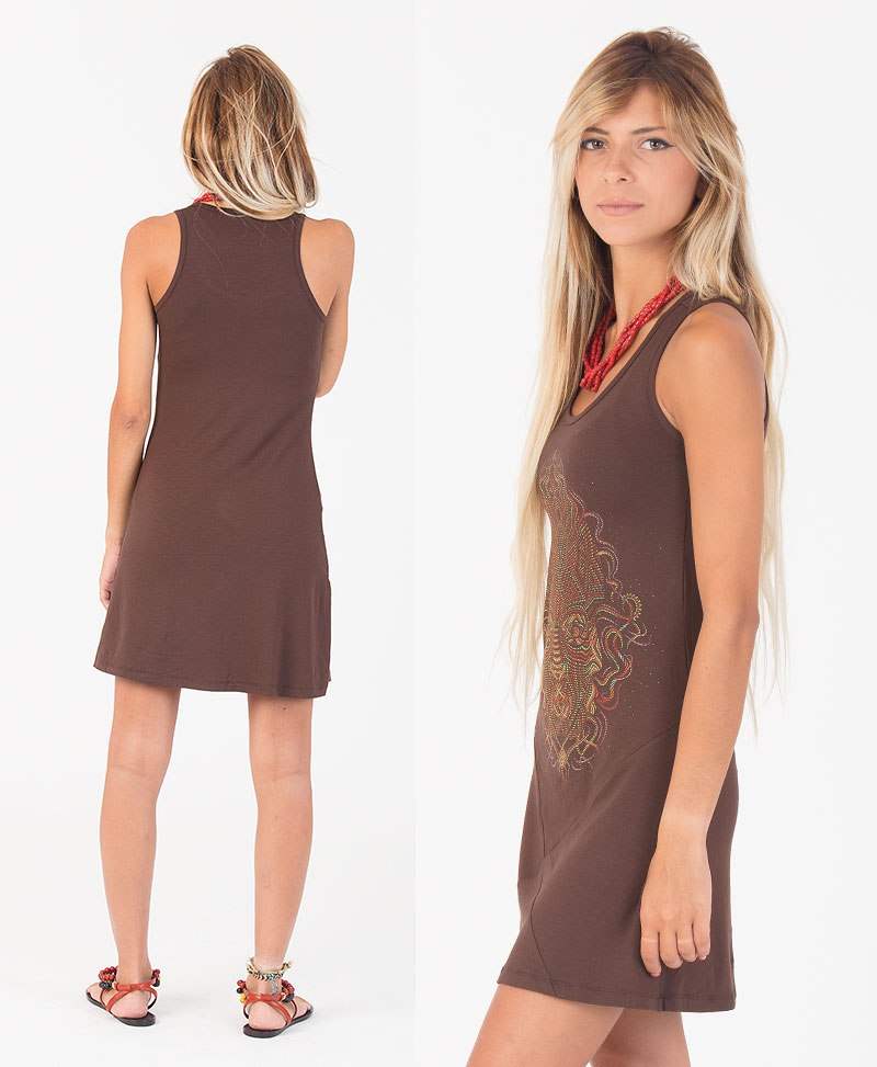 TriMurti Tunic Dress ➟ Brown