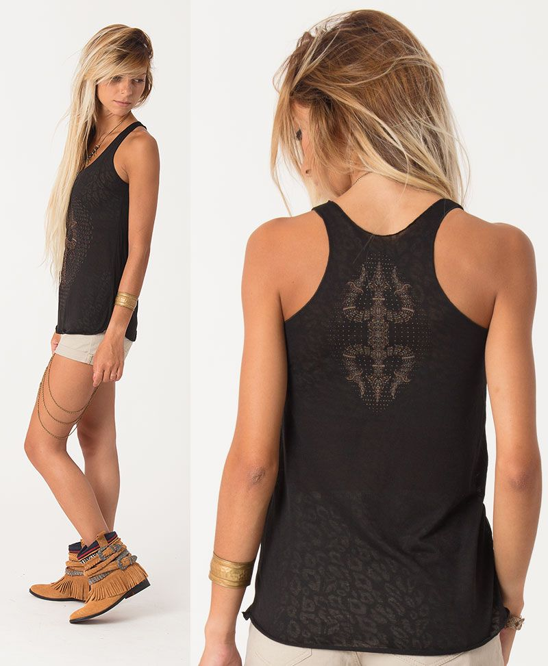 Trishula Top ➟ Black Burnout