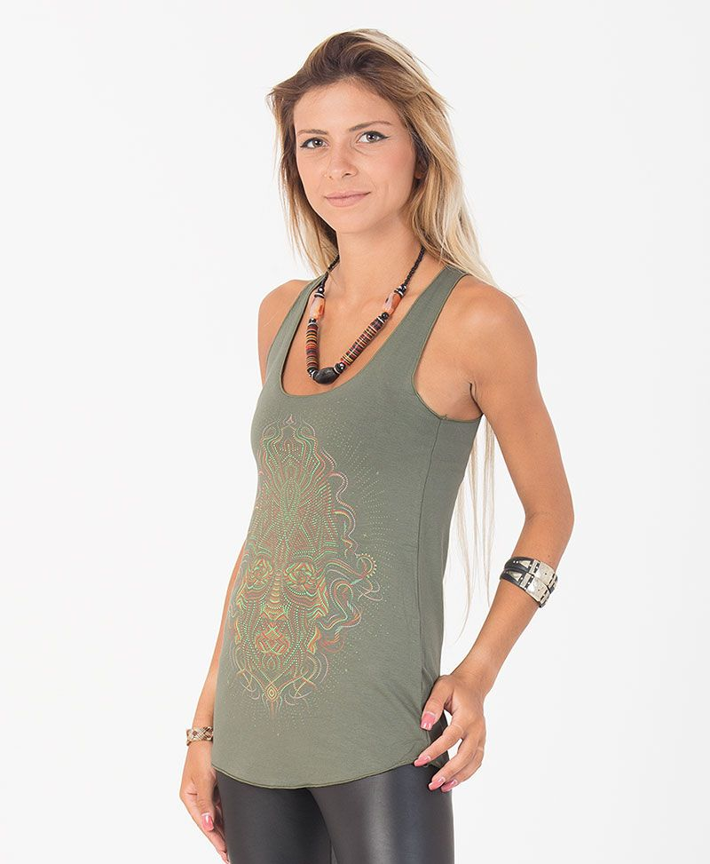Trimurti Top ➟ Black / Grey / Green