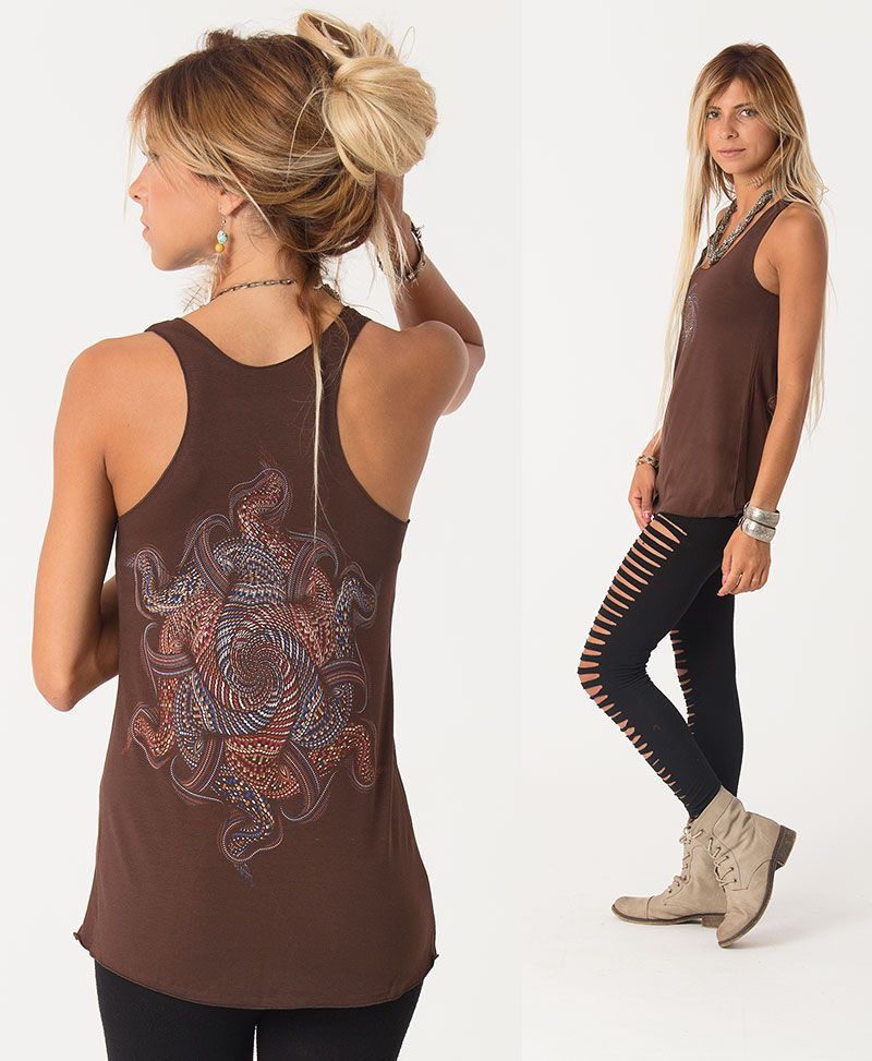 Vortex Top ➟ Brown