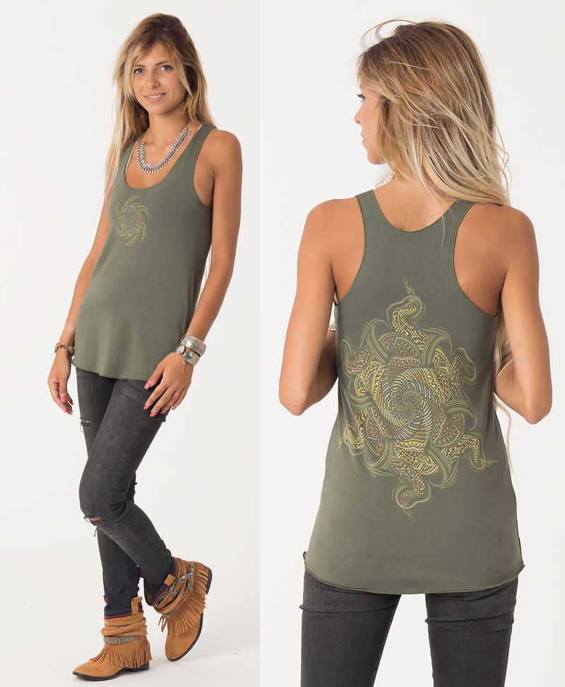 Vortex Top ➟ Black / Grey / Green