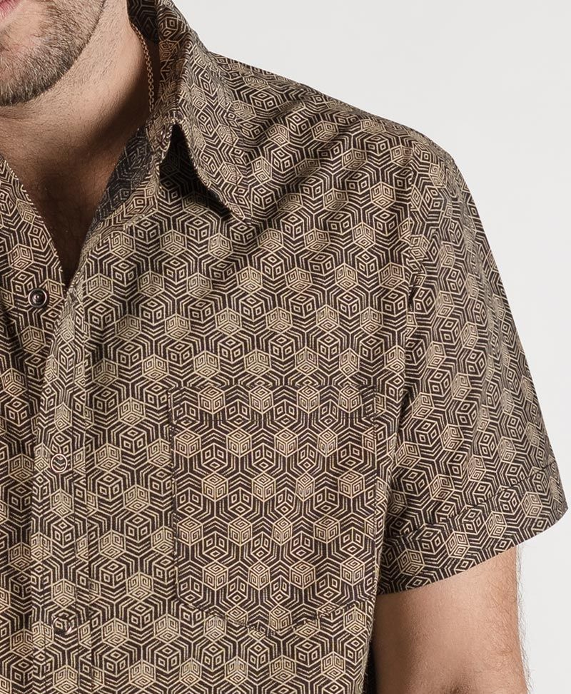 Kubic Button Shirt ➟ Black