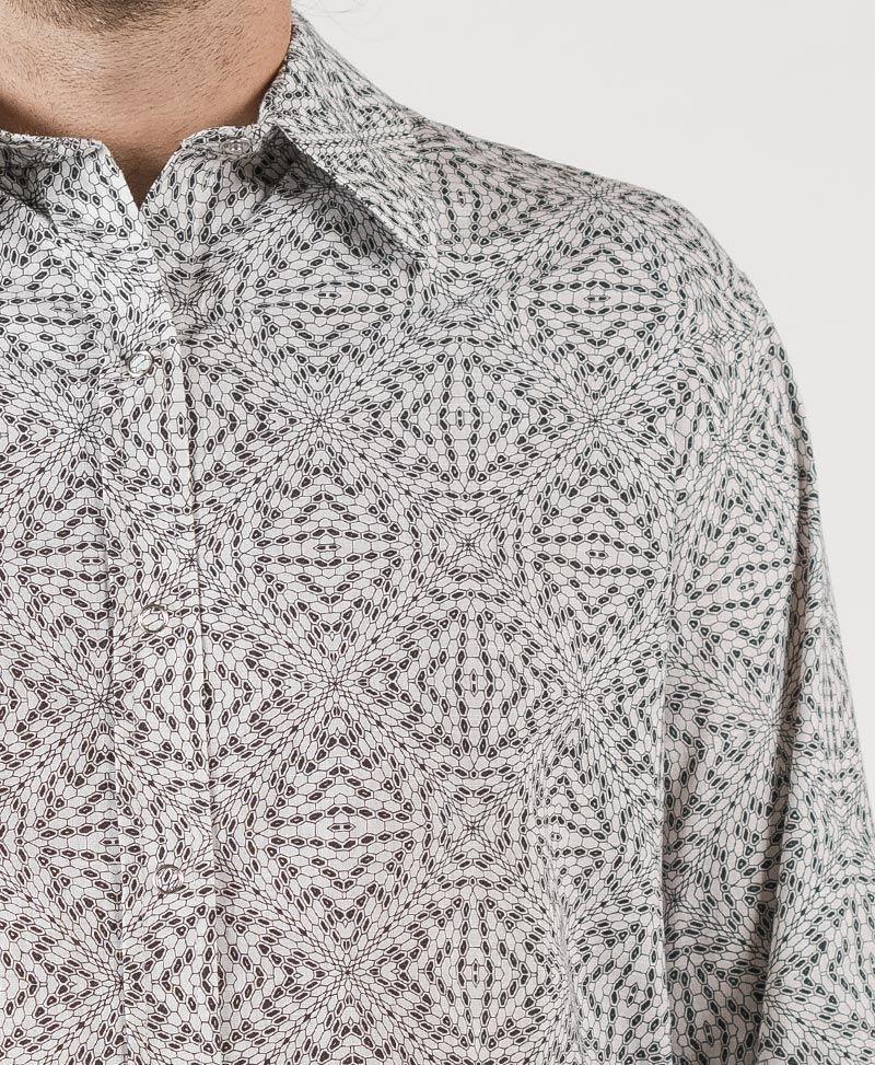 Hexit Long Button Shirt ➟ White