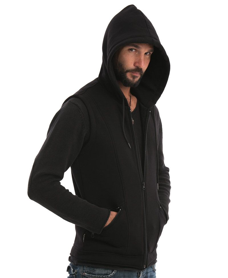 Uhloo Hooded-Vest ➟ Black