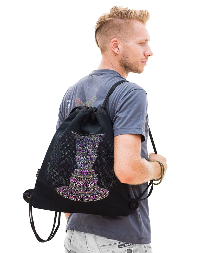 Vase 2 Face Drawstring Backpack