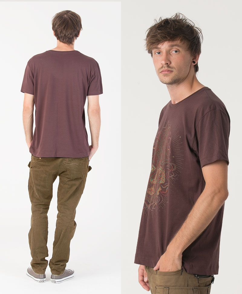 TriMurti T-shirt ➟ Brown