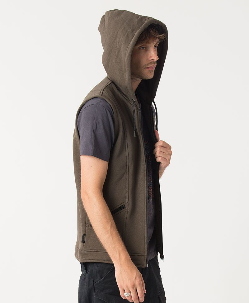 Vortex Hooded Vest  ➟ Olive