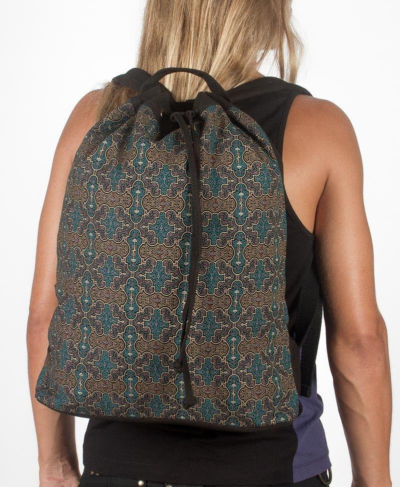 Shipibo Kené ➟ Padded Straps Drawstring Backpack