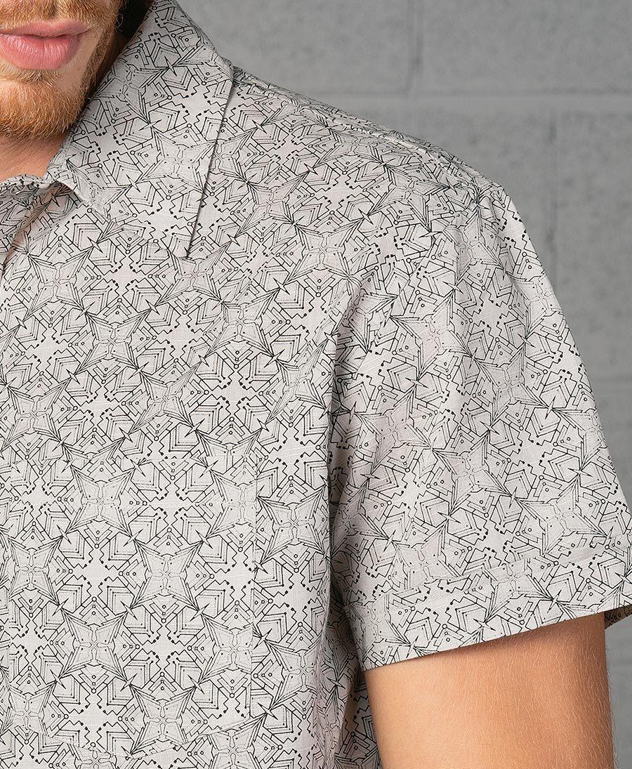 Squarcle Button Shirt ➟ Grey