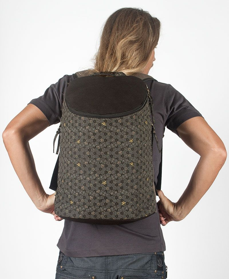 Bees Wide Top Backpack