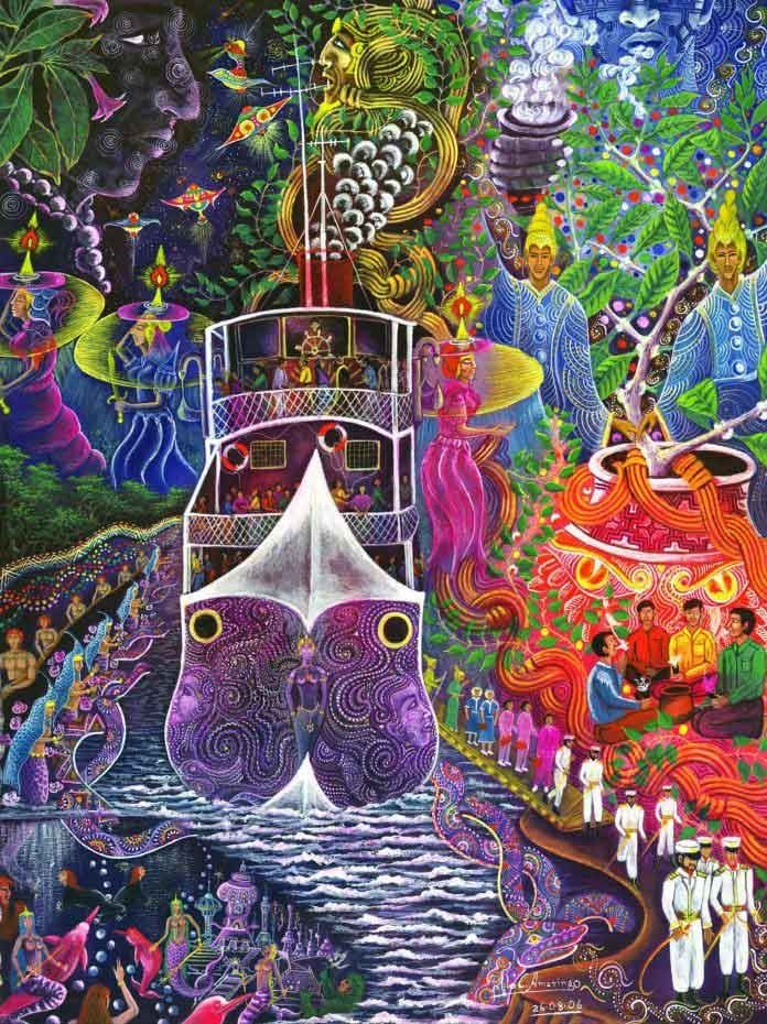psychedelic-shirt-trance-festival-clothing-sol-seed-of-life-Barco-Fantasma-by-Pablo-Amaringo-696x930